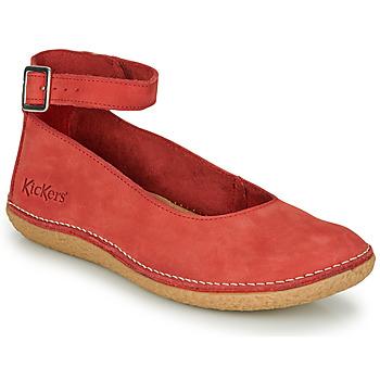 Shoes Women Ballerinas Kickers HONNORA Red