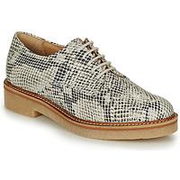 Shoes Women Derby shoes Kickers OXFORK White / Black / Python