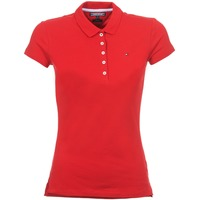 material Women short-sleeved polo shirts Tommy Hilfiger NEW CHIARA Red