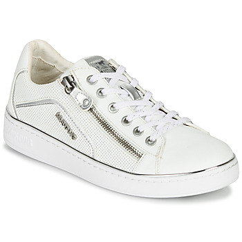 Shoes Women Low top trainers Mustang 1300-303-121 White / Silver