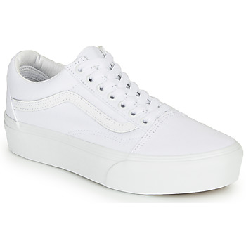 Shoes Women Low top trainers Vans OLD SKOOL PLATFORM White