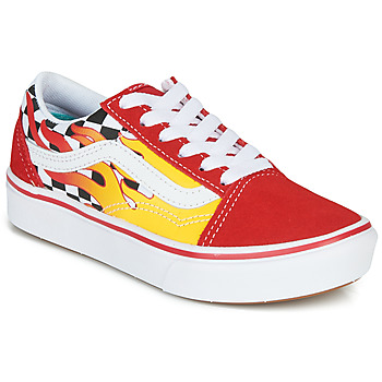 Shoes Boy Low top trainers Vans COMFYCUSH OLD SKOOL Red / Yellow