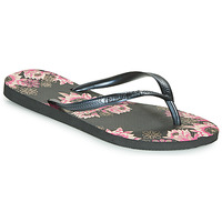 Shoes Women Flip flops Havaianas SLIM ORGANIC Black / Pink