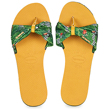 Shoes Women Flip flops Havaianas YOU SAINT TROPEZ Yellow / Green