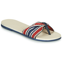 Shoes Women Flip flops Havaianas YOU SAINT TROPEZ FITA Beige / Marine / Red