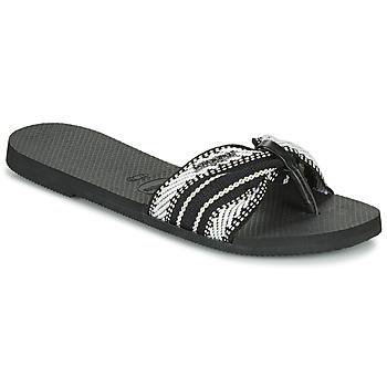 Shoes Women Flip flops Havaianas YOU SAINT TROPEZ FITA Black