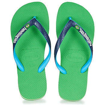 Shoes Flip flops Havaianas BRASIL MIX Green / Blue