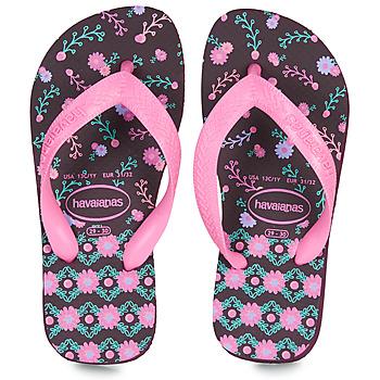 Shoes Girl Flip flops Havaianas KIDS FLORES Aubergine