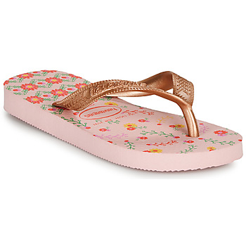 Shoes Girl Flip flops Havaianas KIDS FLORES Pink / Gold