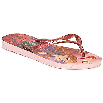 Shoes Girl Flip flops Havaianas KIDS SLIM FROZEN Pink