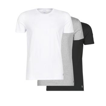 material Men short-sleeved t-shirts Polo Ralph Lauren WHITE/BLACK/ANDOVER HTHR pack de