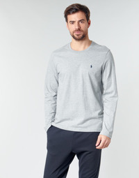 material Men Long sleeved shirts Polo Ralph Lauren L/S CREW-CREW-SLEEP TOP Grey