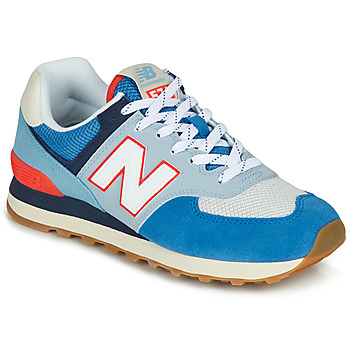 Shoes Low top trainers New Balance 574 Blue / Grey / Orange