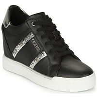 Shoes Women High top trainers Guess  Black / Silver