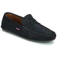 Shoes Men Loafers Tommy Hilfiger CLASSIC SUEDE PENNY LOAFER Blue