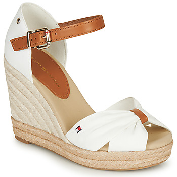 Shoes Women Sandals Tommy Hilfiger BASIC OPENED TOE HIGH WEDGE White