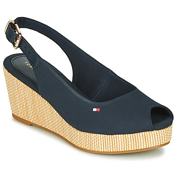 Shoes Women Sandals Tommy Hilfiger ICONIC ELBA SLING BACK WEDGE Blue