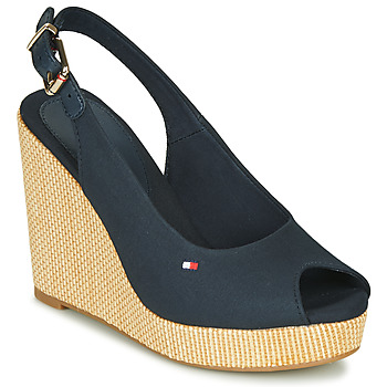 Shoes Women Sandals Tommy Hilfiger ICONIC ELENA SLING BACK WEDGE Blue