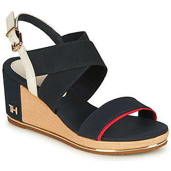 Shoes Women Sandals Tommy Hilfiger TH HARDWARE BASIC MID WEDGE Blue
