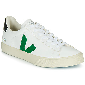 Shoes Low top trainers Veja CAMPO White / Green / Black
