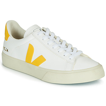 Shoes Low top trainers Veja CAMPO White / Yellow