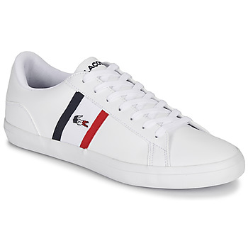 Shoes Men Low top trainers Lacoste LEROND TRI1 CMA White / Blue / Red