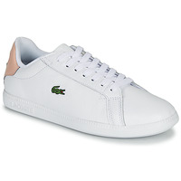 Shoes Women Low top trainers Lacoste GRADUATE 120 1 SFA White / Pink