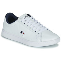 Shoes Women Low top trainers Lacoste CARNABY EVO TRI 1 SFA White / Marine / Red