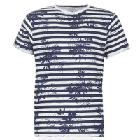 material Men short-sleeved t-shirts Casual Attitude NELLYA Marine / Ecru