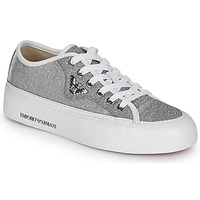 Shoes Women Low top trainers Emporio Armani X3X109-XL487 Silver
