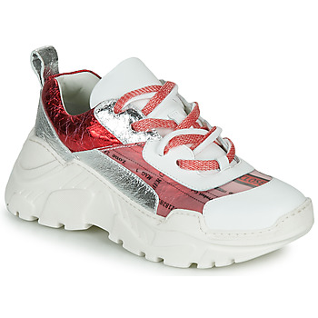 Shoes Women Low top trainers Fru.it CARETTE White / Red / Silver