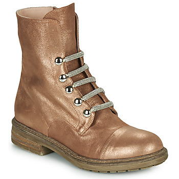 Shoes Women Mid boots Fru.it ADIETE Camel / Gold