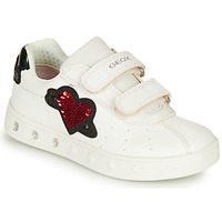 Shoes Girl Low top trainers Geox J SKYLIN GIRL White