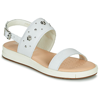 Shoes Girl Sandals Geox J SANDAL REBECCA GIR White