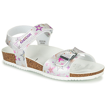 Shoes Girl Sandals Geox J ADRIEL GIRL Silver