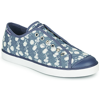 Shoes Girl Low top trainers Geox JR CIAK GIRL Blue / White