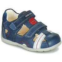 Shoes Boy Sandals Geox B KAYTAN Blue / White / Red
