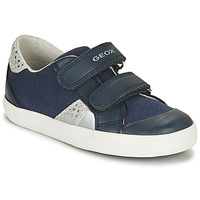 Shoes Boy Low top trainers Geox B GISLI GIRL Marine / Silver