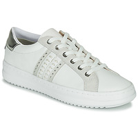 Shoes Women Low top trainers Geox D PONTOISE White / Silver