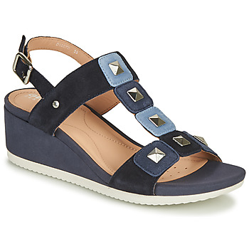 Shoes Women Sandals Geox D ISCHIA Blue