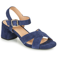 Shoes Women Sandals Geox D GENZIANA MID Blue