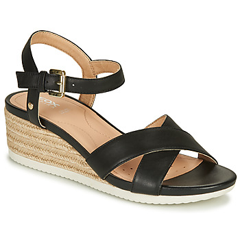 Shoes Women Sandals Geox D ISCHIA CORDA Black