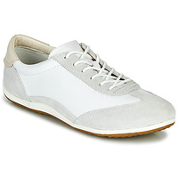 Shoes Women Low top trainers Geox D VEGA White / Grey