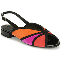 Shoes Women Sandals Geox D WISTREY SANDALO Black / Red / Pink