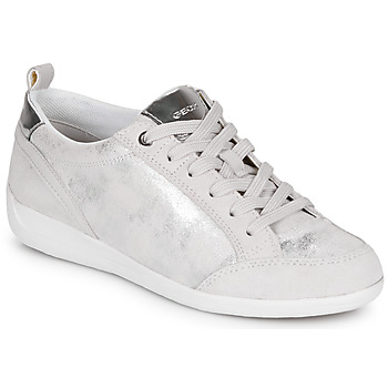 Shoes Women Low top trainers Geox D MYRIA White / Silver