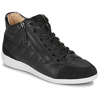Shoes Women High top trainers Geox D MYRIA Black