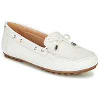 Shoes Women Loafers Geox D LEELYAN White