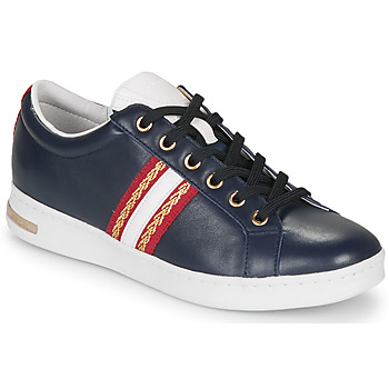 Shoes Women Low top trainers Geox D JAYSEN Blue / Red / White