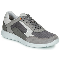 Shoes Men Low top trainers Geox U ERAST Grey / White / Orange