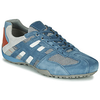 Shoes Men Low top trainers Geox UOMO SNAKE Blue / Grey